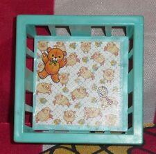 Vintage Fisher Price Little People Nursery blue Playpen Crib