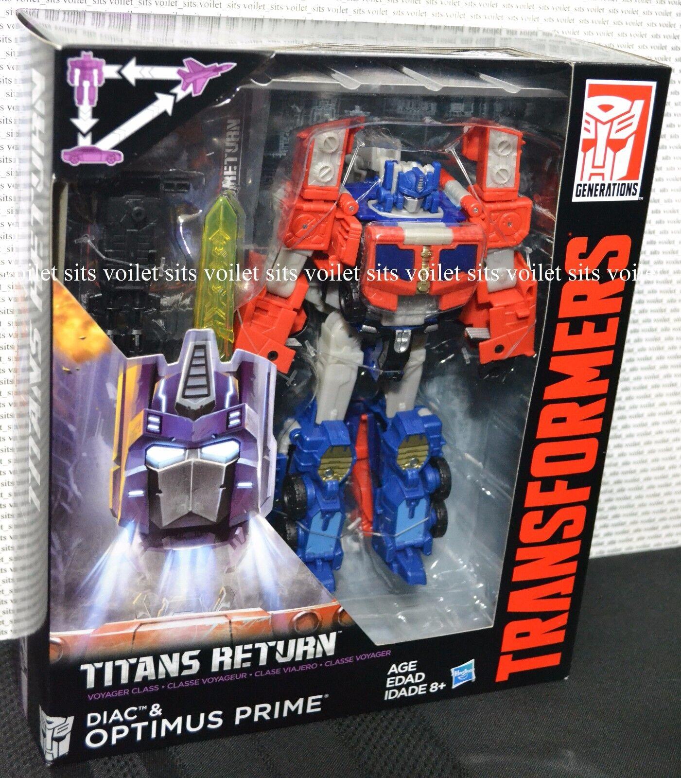 Transformers Generations Titans Return Voyager Class Figure Optimus Prime & Diac