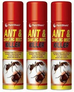 3-X-300ml-Household-Ants-Killer-Spray-Ant-amp-Crawling-Flea-Cockroach-Insect-Kill