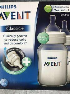 Philips Avent Classic Bottles SCF563//27-2 x 260ml 9oz White