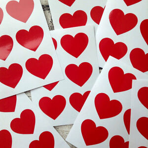 large-Red-heart-decal-stickers-packaging-envelope-seals