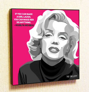 Image Is Loading Marilyn Monroe Painting Decor Print Wall Art Poster