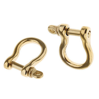 portable Brass O Shape Shackle Outdoor Rope Paracord Bracelet Buckle Small
