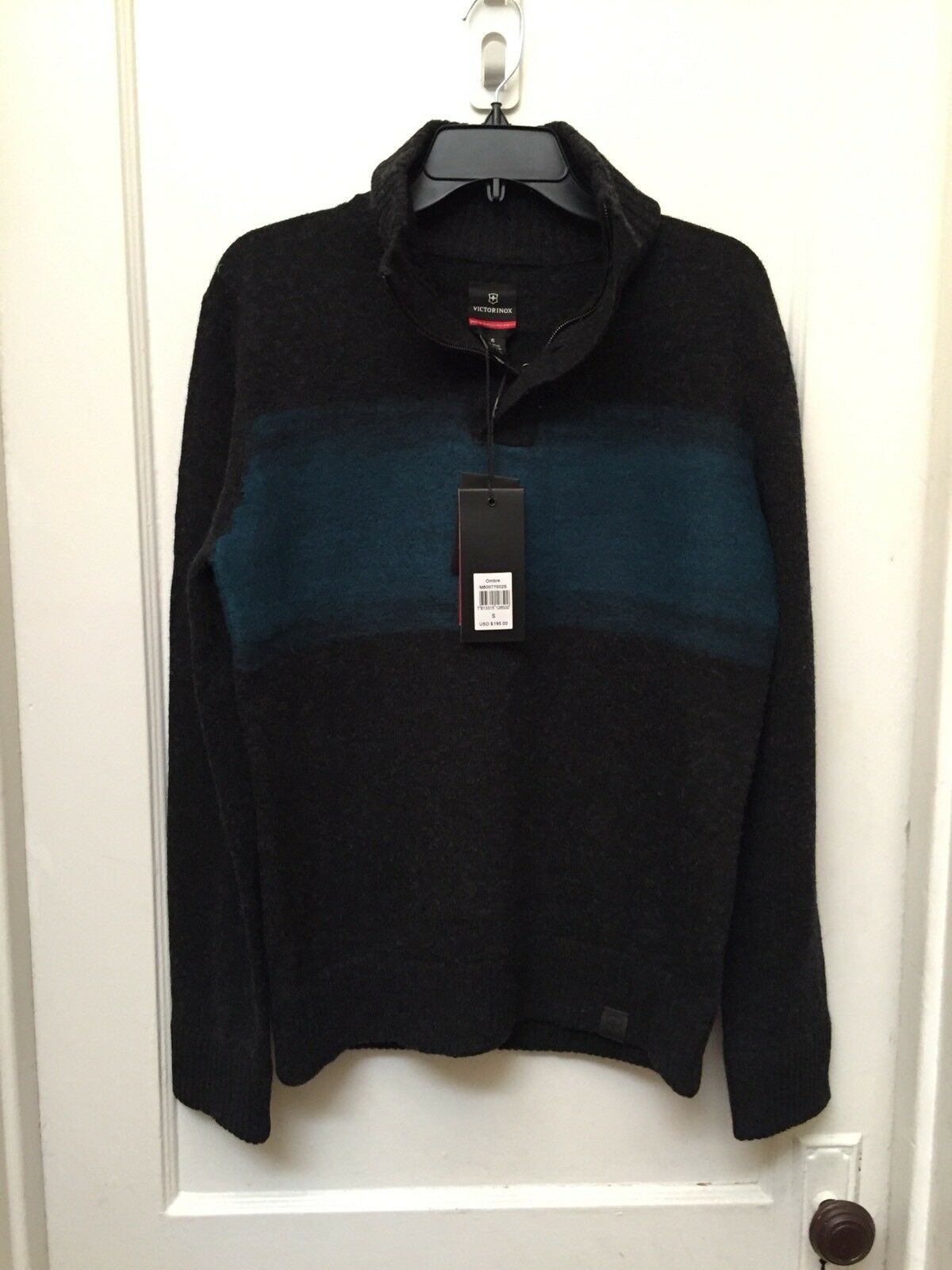486bd45bf8a VICTORINOX SWISS ARMY OMBRE WOOL BLEND SWEATER S NEW SIZE ...