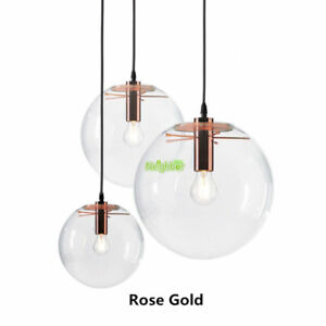 Modern designer glass pendant lamp transparent glass ball suspension image is loading modern designer glass pendant lamp transparent glass ball aloadofball Choice Image