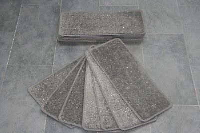 14 Black Glitter Staircase 20inc x 8inc Pads Carpet Stair Treads Black Sparkle Large Pad
