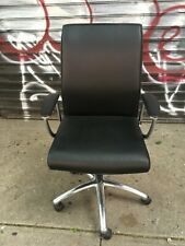 Allseating Black Zip Leather Conference Table Office Arm Chair