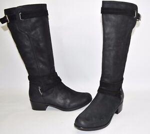 7dfcdf1ba6a Details about $300+ UGG Australia Darcie Boot BURNISHED SEUDE SHEARLING  FOOTBED BLACK 11 (UG3)