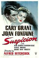 SUSPICION movie poster CARY GRANT joan fontaine ROMANTIC psycho 24X36