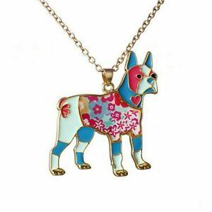 Halskette-Kette-Golden-Retriever-Hund-Tier-Anhaenger-Gold-Damen-Mode-Schmuck-Lady