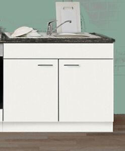 Details zu Spülenunterschrank FAVORIT 1 weiß 100 cm Küche Unterschrank o.  Arbeitspl./Spüle