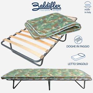 Brandina letto pieghevole a doghe con materasso waterfoam h 10 cm modello lion ebay - Letto pieghevole con materasso ...