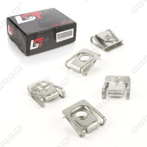 5x parentesi quadra di interruzione supporto in metallo lamiera parentesi madre clip per Porsche NUOVO *