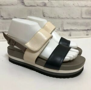 Anyi-Lu-Sandals-Platform-Handmade-in-Italy-Size-EU-37-Sz-7-Viva-Black-Cream