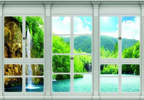 Fototapete Tapete Poster 173064FW Wasserfall Fensterblick