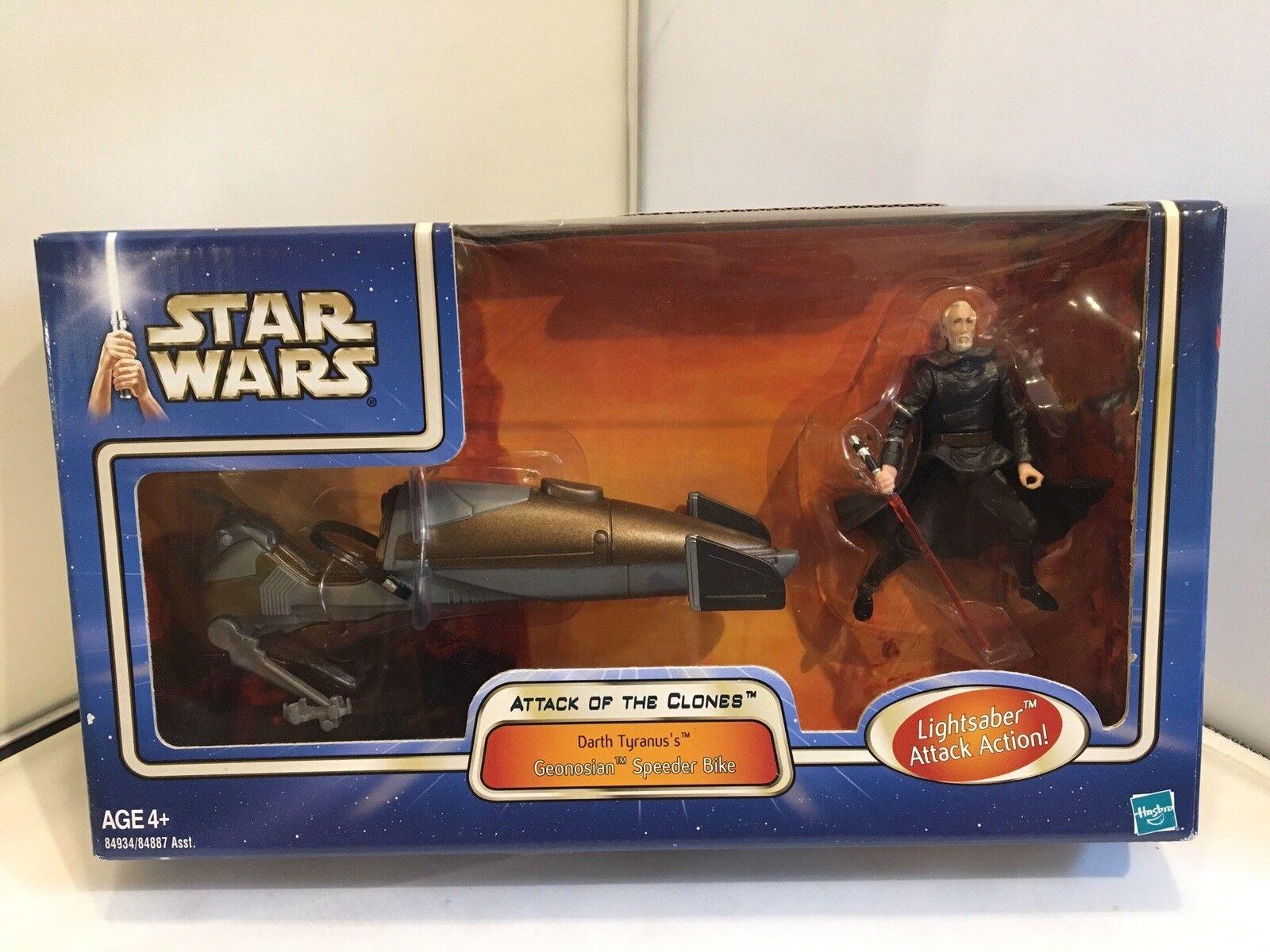 STAR WARS L'ATTACCO DEI CLONI-Darth tyranus'S Geonosiani Geonosiani Geonosiani Speeder Bike b33ca2