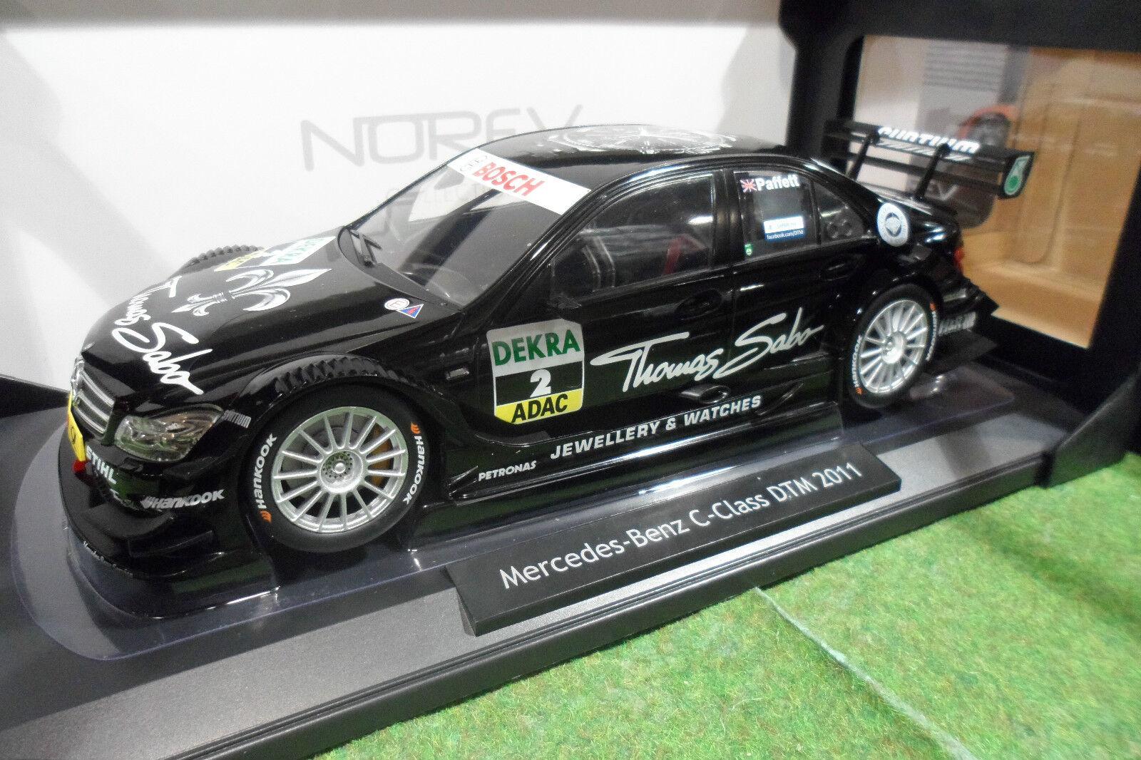 MERCEDES BENZ C-CLASS DTM 2011 G. Paffett au 1 18 NOREV 183584 voiture miniature