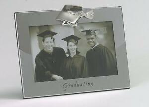 Graduation-Gift-Photo-Picture-Frame-Silver-Finish-Holds-6x4-034-Photo-NEW
