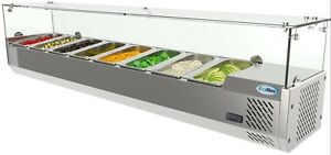 Image Is Loading Countertop Condiment Refrigerated Prep Station With Gl Sneeze