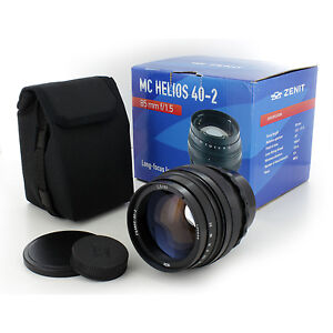 Soviet-Russian-Helios-40-2-85mm-f-1-5-lens-for-Nikon-SLR-Camera-Free-US-shipping