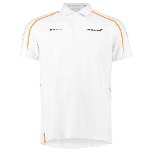 2018 McLaren F1 Formula 1 Official Team Mens White Polo Shirt in Sizes S-XXXL