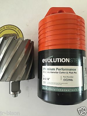 "1-3//8/"" x 1/"" long w// Pilot Pin Evolution CYCLONE  Annular Cutter"