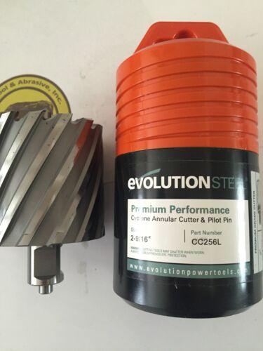 "2-9//16/"" x 2/"" long w// Pilot Pin Evolution CYCLONE  Annular Cutter Bits"