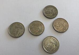 Set 5 Pieces 100 Francs France 1954 1955 1954 B 1955 B Quality REF64703