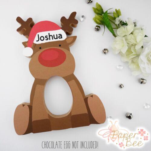 Personalised Christmas Kinder Egg Holder Stocking Filler Gift Xmas Present Kids