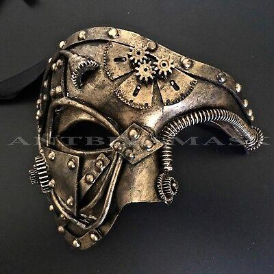 Steampunk half face Unisex Masquerade Halloween Custom Mask