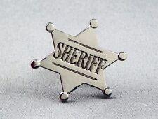 Metal Enamel Pin Badge Brooch Sheriff Sherriff Badge Deputy Wild West Law