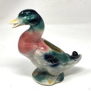 Vintage Royal Copley Mallard Duck Planter Mid Century