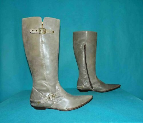 Boots Kickers Brown Leather Beige Moderate Size 38