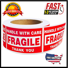 Rolls 2x34x6 Fragile Stickers 500roll Handle With Care Labels Usa Shipping