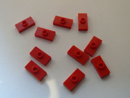 Lego red  Plate Modified 1 x 2 with 1 Stud ou plate avec pion central