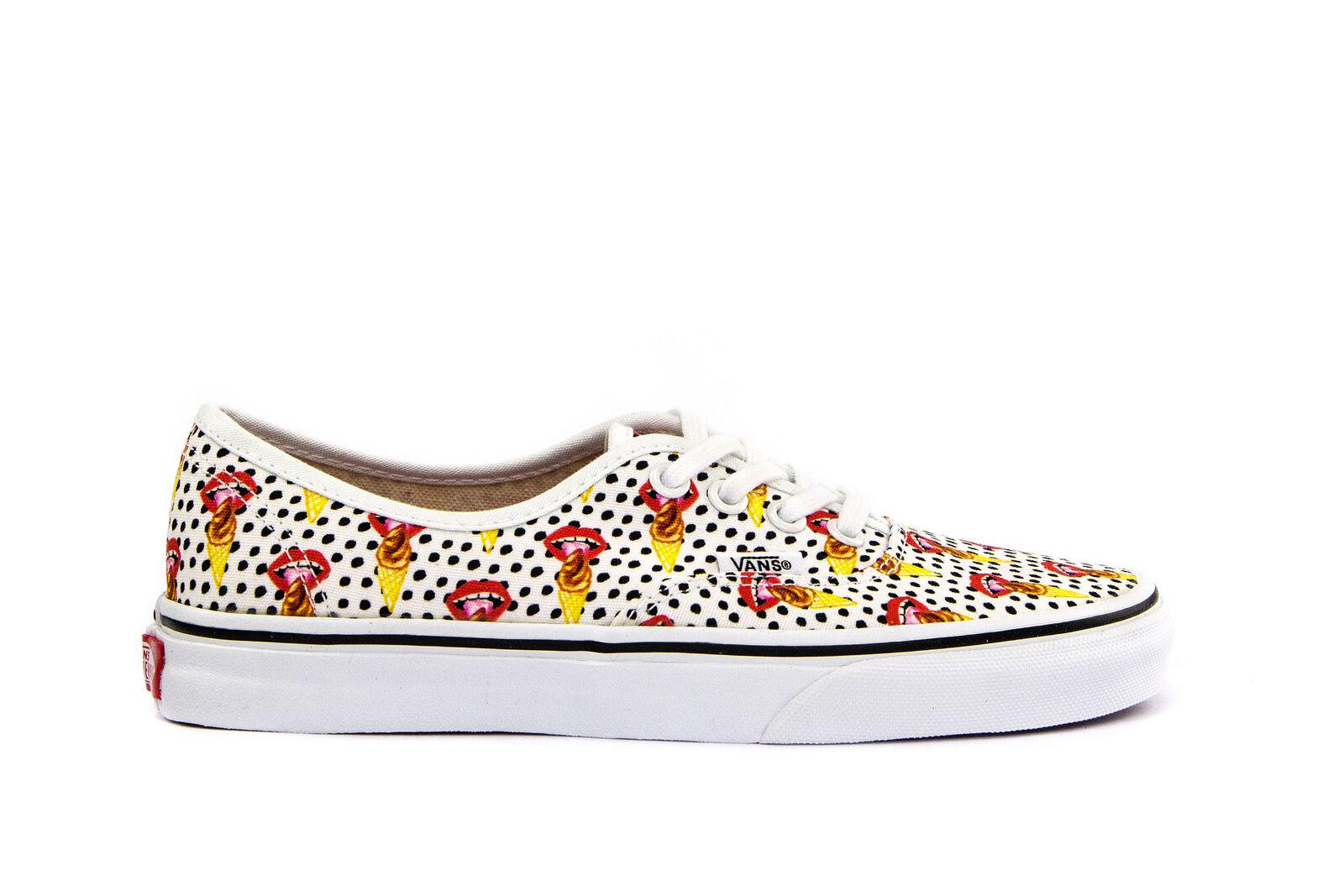 4d506e67a99e97 Buy VANS Authentic Womens Kendra Dandy I Scream White Canvas Shoes ...