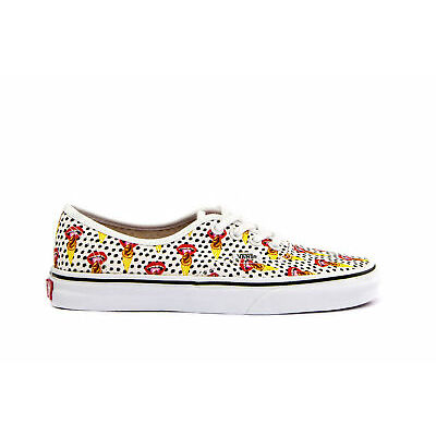 VANS Womens Shoes Lace-Up Sneakers AUTHENTIC (KENDRA DANDY) Printed White Canvas