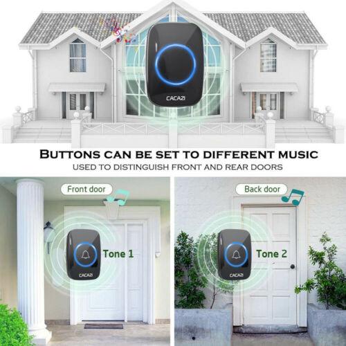 Wireless Doorbell Waterproof 300M Remote EU UK US Plug smart Door Bell battery