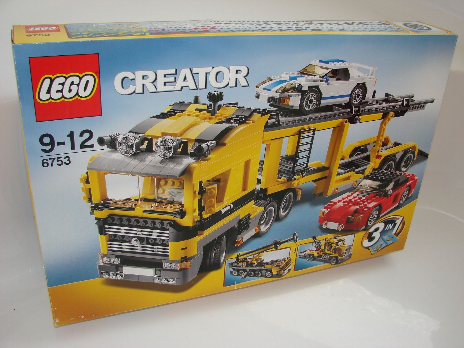 Lego ® Creator 6753 auto Transporter nuevo _ Highway transporte Mobile Crane TOW Truck
