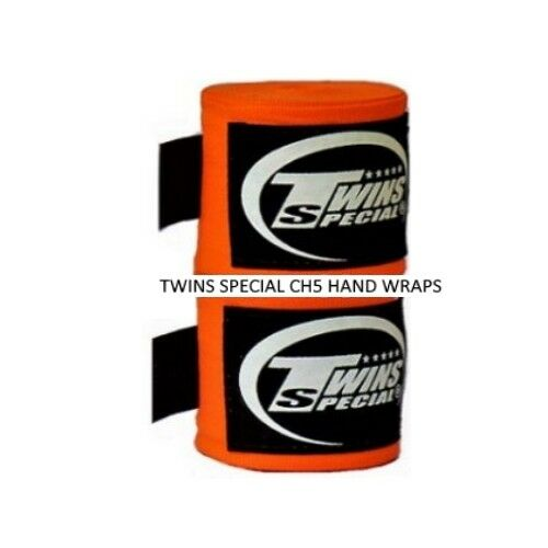 TWINS SPECIAL CH-5 HAND WRAPS 5 METERS MUAY THAI BOXING ELASTIC PROTECTORS SOLID