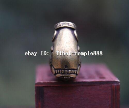 10 CM Chinese Pure Bronze Handwork auspicious Foo Dog Lion Dragon tobacco pipe