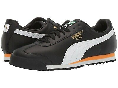 Men's Shoes PUMA ROMA CLASSIC VTG Leather Lace Up Sneakers 36956902 PUMA BLACK | eBay