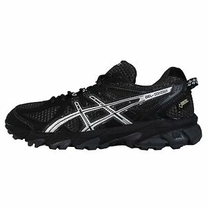 Asics Gel Sonoma G TX Gore Tex Black Silver Womens Trail Running Shoes T5N7N9093