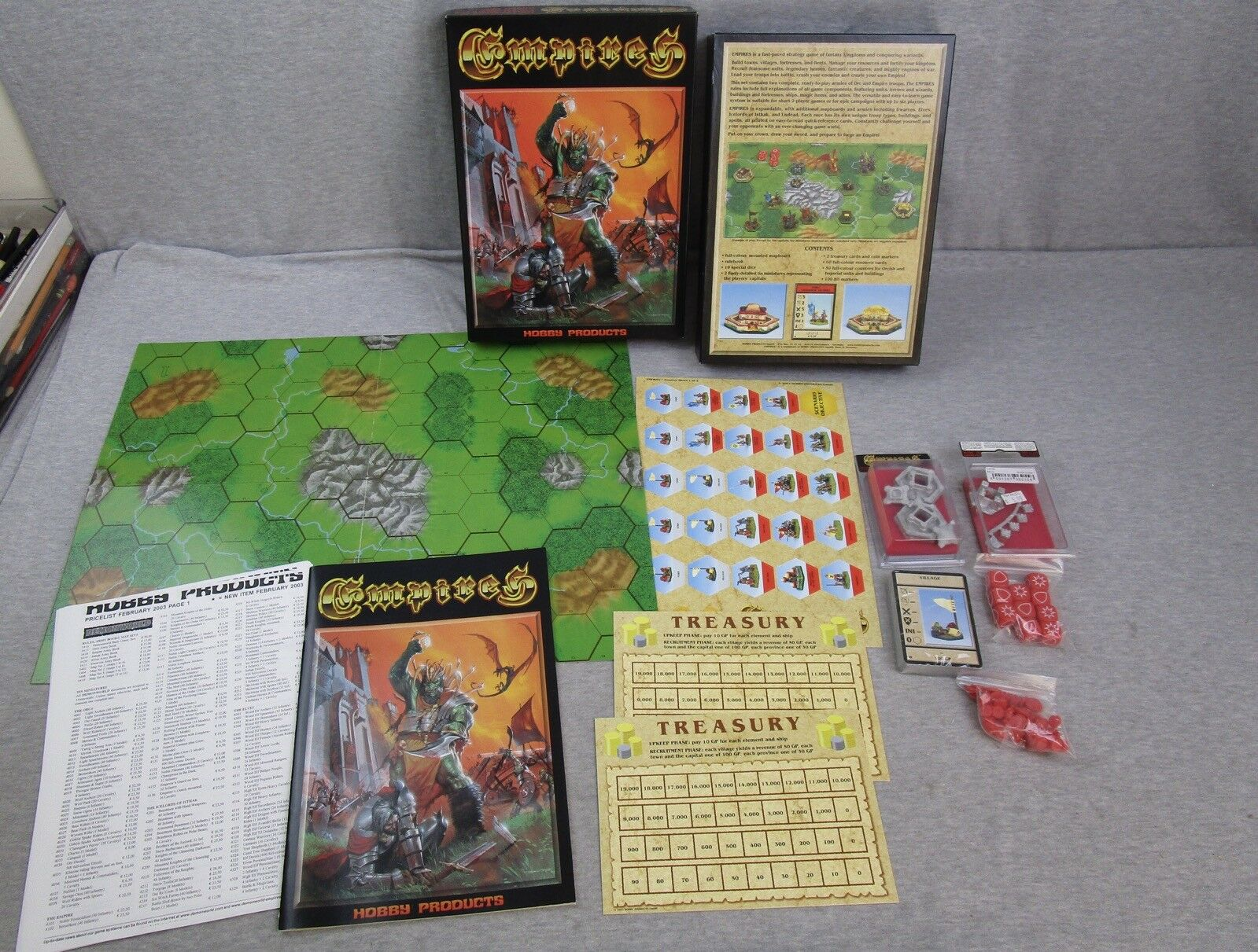 Hobby Products EMPIRES Game Complete Unpunched Boardgame