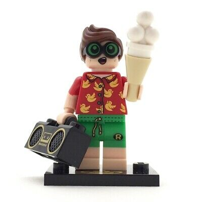 LEGO-MINIFIGURES THE BATMAN MOVIE SERIES 2 X 1 BOOM BOX FOR VACATION ROBIN PARTS