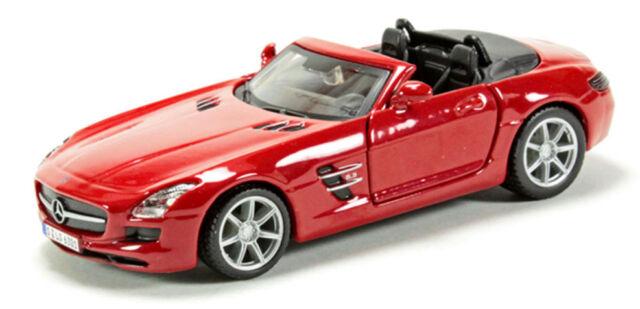Mercedes Benz SLS AMG Red, Bburago Street Fire Car Model 1:43