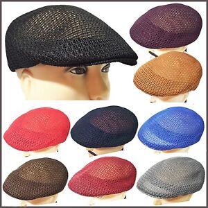 cebd5d2f5a5 New Cool Summer Ventilated Mesh Ivy Newsboy Duckbill Ascot Golf Hat ...