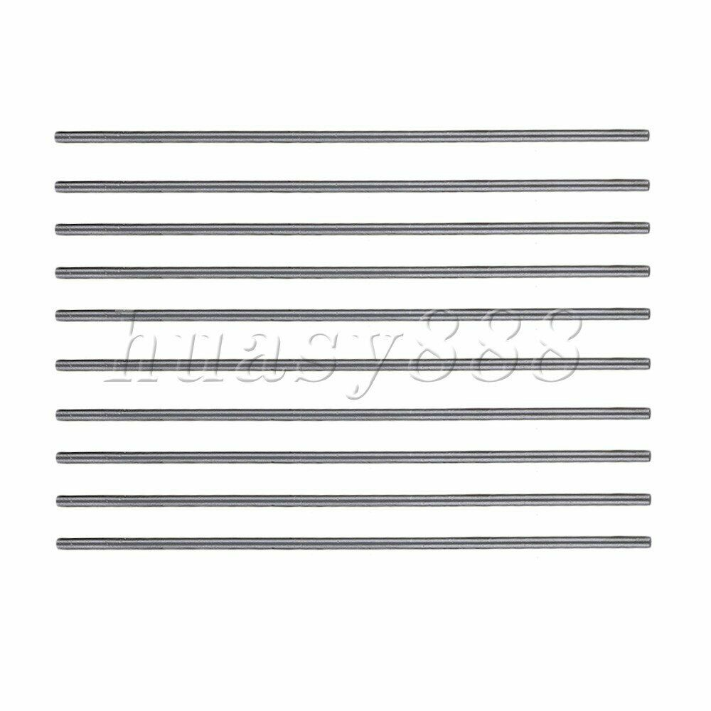 10PCS Silver HSS Round Turning Lathe Bar 100mm x 2mm For Tools And Taps