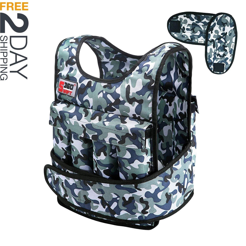 Swift360 Weighted Vest Men 40lbs Adjustable Female Fitness Gear Crossfit Train