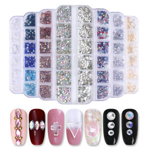1440pcs-Flat-Back-Nail-Art-Rhinestones-Glitter-Diamond-3D-Tip-Decor-DIY